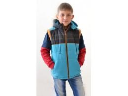 Куртка-жилет для мальчика (Люксик М175)